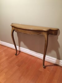 "Vintage 1/2 Wall Table  Dimensions: 42"" x 9"" x 32"" tall   Offered for only $99 Toronto, M5P 2V5"