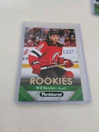Will Butcher Rookie Hockey Card