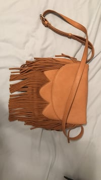 fringed brown leather crossbody bag Summerville, 29485