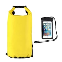 New 20L Waterproof Dry Bag + Smartphone Case  Silver Spring