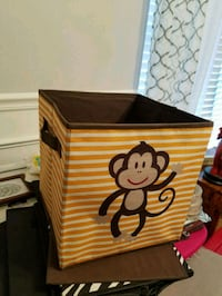 4 storage containers, 1 monkey, 2 black, 1 zebra Gainesville, 30506