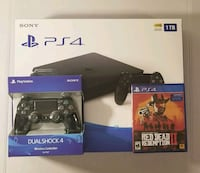 Brand New Ps4 1TB + Controller+ Red Dead II 18 km