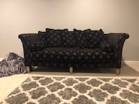 Black and brown floral sofa Great Falls, 22066