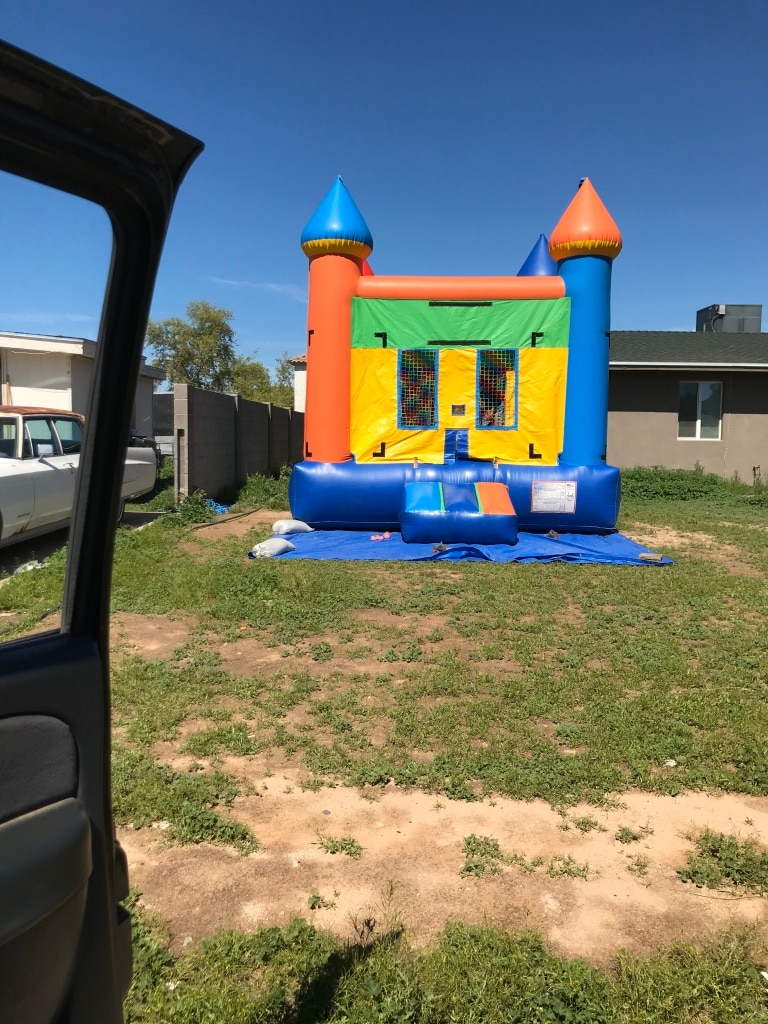 Photo Bouncy House Water Slide Dry Slide Combo Jumper Bouncer Party Event
