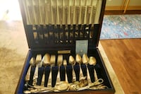 Community silver plated dining service set. 100+ pieces Milwaukie