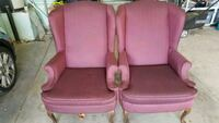 2 wing chairs Lancaster, 93536