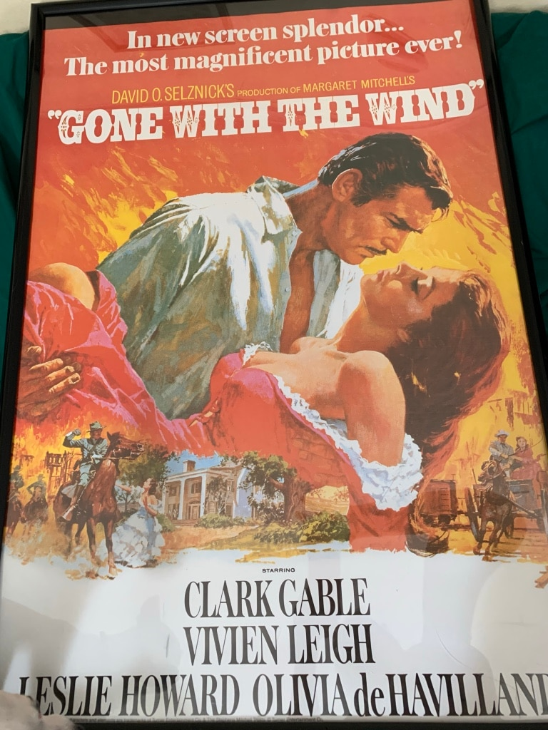 Photo Gone with the wind poster. Size 28 x 41