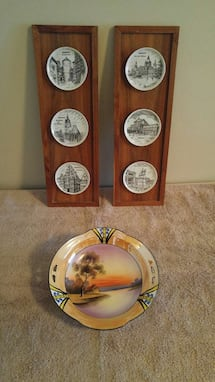 Hanover Plate Displays and Colourful Bowl