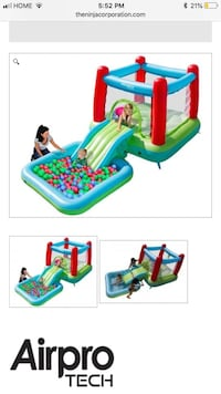 Air Protech bouncy house with slide and pool