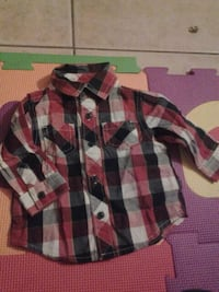 red black and white plaid sports shirt Spring Valley, 91977