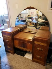 Vintage Art Deco Style Waterfall Vanity with Bench Millersville, 21108