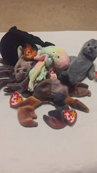 assorted-color Ty Beanie Baby plush toy lot 4718 mi