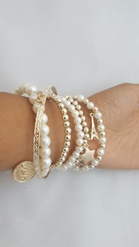 Stacked Charm Bracelet Montreal