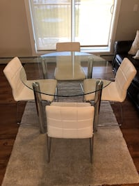 Glass Table & 4 Leather Chairs Edmonton, T5E