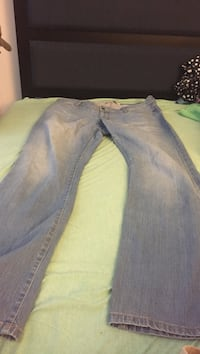 true fit flare size 13/14 blue and gray denim jeans