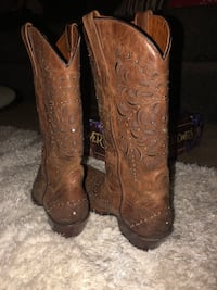 Brown leather cowboy boots Dallas, 75228