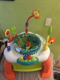 baby's white and green activity saucer Moreno Valley, 92551
