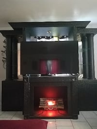 Entertainment center with simulated fireplace LEHIGHACRES
