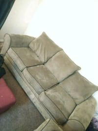 brown suede 3-seat sofa Washington, 20020