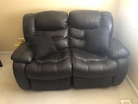 Italian Leather Loveseat Recliner Ajax, L1T 0A5