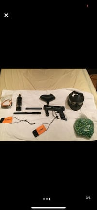 98 custom tipman paintball gun and  accessories everthing you see