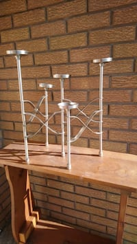 Stainless steel candle holder moveable  Burlington, L7R 3P8