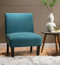 Teal Accent Chair/Slipper Chair /NEW