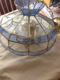 Etched. Glass Hanging lamp Center Harbor, 03226