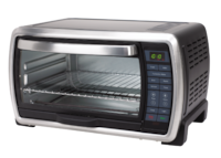 Oster Large Digital Countertop Convection Toaster Oven, 6 Slice, Black/Polished Stainless  ASTORIA