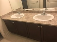 73inch, Double sink vanity with mirror, sinks, foists Brampton, L6V