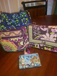Vera Bradley Bags and 1 Trifold Wallet Spring, 77379