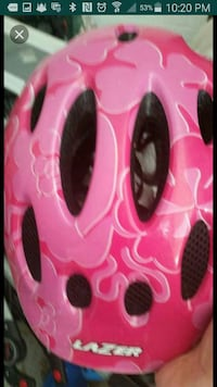 pink and white floral bicycle helmet Groton, 06340