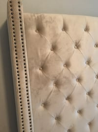 white leather tufted bed headboard Marco Island, 34145