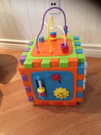 blue, yellow, and red activity cube Pickering, L1V 7G5