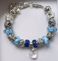 Blue European charm bead bracelet.         2 for $ Baltimore, 21224