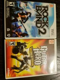 Rock band 2 and Guitar Hero world tour for the WII Des Plaines