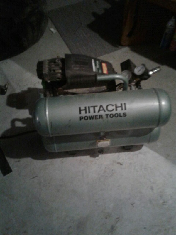 gray Hitachi standard air compressor