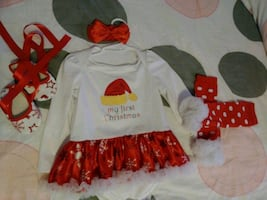 12m 1st Christmas Outfit