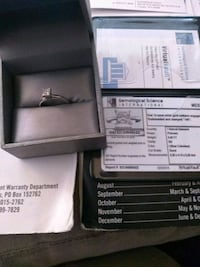 White gold certified with ring with box Casper, 82604