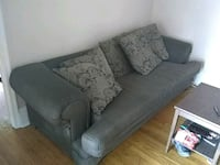 gray fabric 2-seat sofa 182 mi