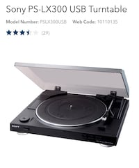 Black sony ps-lx300 usb turntable Toronto, M6N 5H5