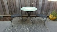 round black metal table with two chairs San Jose, 95127