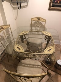 white and brown wooden table with chairs Port Chester, 10573
