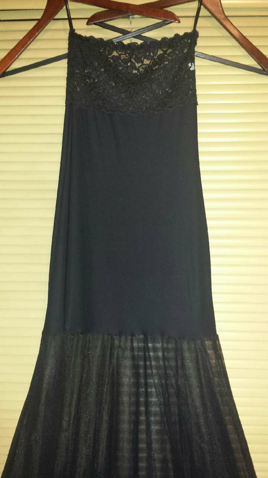 Petite S Fishnet and lace black babydoll gown $15  - Scotts Corners