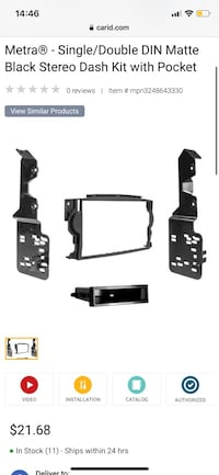 Double Din Frame for Acura TL