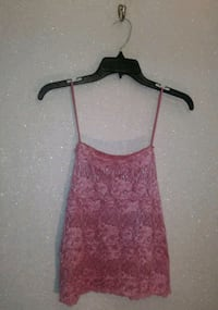 PINK LACE CAMI LARGE
