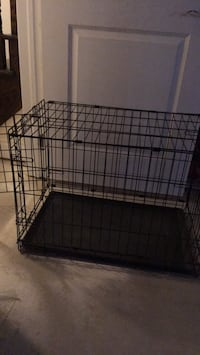 Black large metal folding dog crate Toronto, M2J