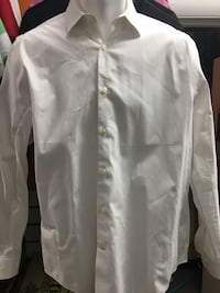 Express Slim Fit White Dress Shirt