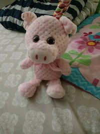 Pink soft toy.