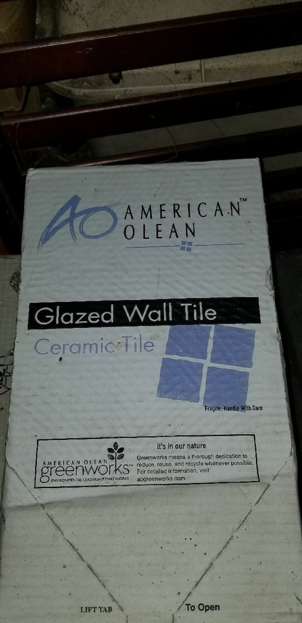 Used American Olean Glazed Wall Tile Ceramic Tile Box For Sale In